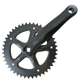 Lasco Crankset Single Speed 44T Black 170mm Length