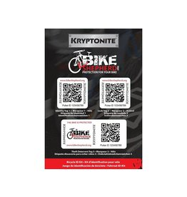 KRYPTONITE Kryptonite Bicycle ID Kit