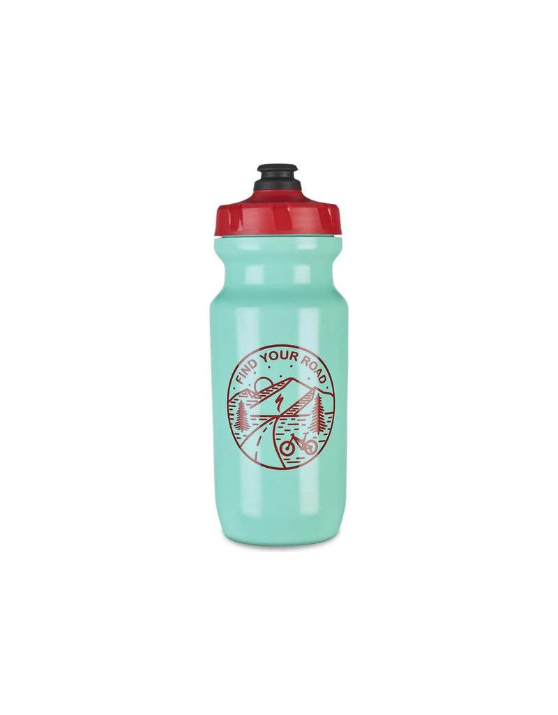 SPECIALIZED Specialized Little Big Mouth 2nd Generation Bottle  - Turquoise/Red - 21oz