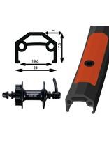 "26"" Alloy Double Wall Rear Wheel/Deore 475 8/9-Speed Cassette 6 Bolt QR"