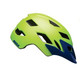 BELL Bell Sidetrack Helmet - Matte Bright Green/Blue Universal Youth