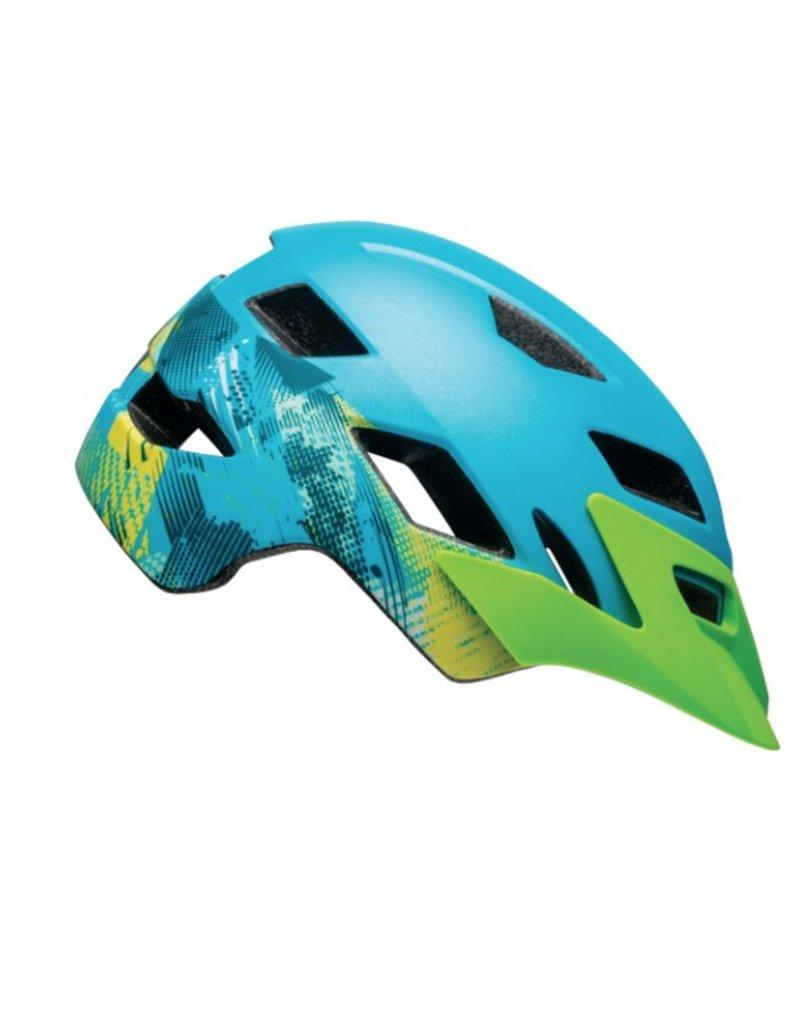 BELL Bell Sidetrack Helmet - Gnarly Matte Bright Blue/Bright Green Universal Youth