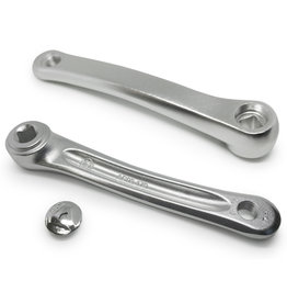 170mm Left Crank Arm Square Alloy - Silver