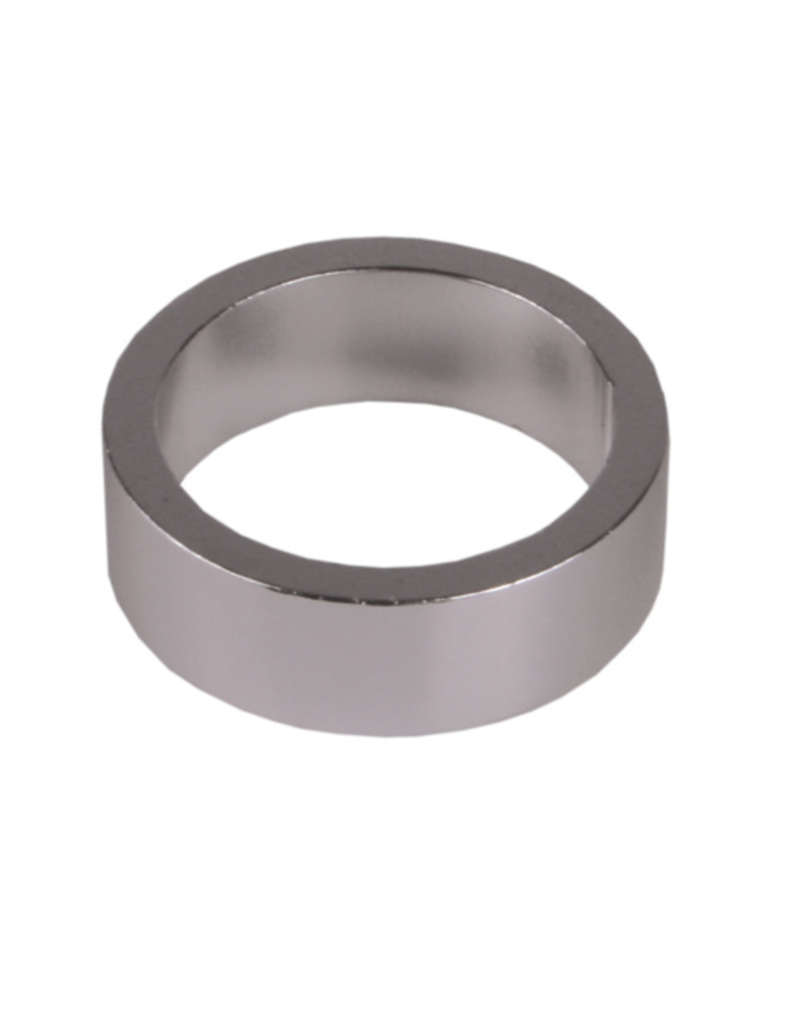 """ECONO Non-Keyed Headset Spacer 1""""/25.4 x 2.5mm - Silver"""