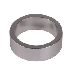 "Non-Keyed Headset Spacer 1""/25.4 x 2.5mm - Silver"