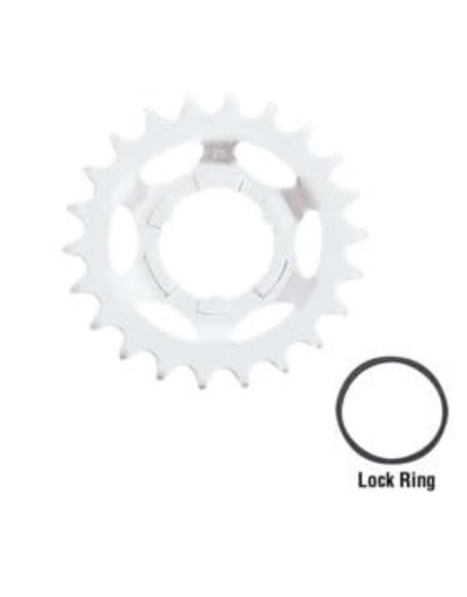 SHIMANO Shimano Replacement Sprockets for Internal Speed Hubs - Y32203620 3S-N Cog 20T - Silver