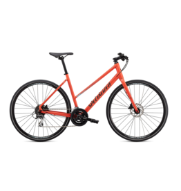 SPECIALIZED Specialized Sirrus 2.0 Step Thru Vivid Coral/Summer Blue/Black