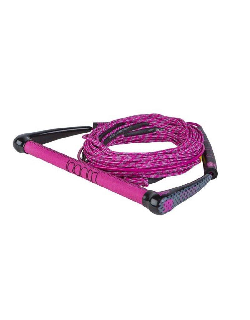 Ronix Womens Combo Dyneema Bar Lock Hide Grip, 70' 4-Sect. Rope