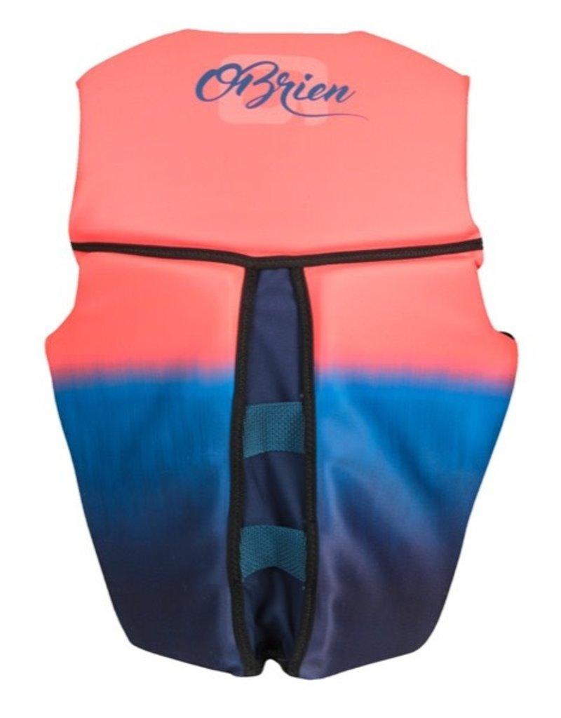 O'Brien Womens Flex V-Back Neo Vest - Coral