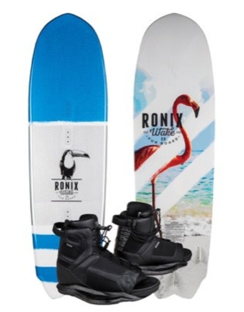 "Ronix 5'1"" Fun Wakeboard w/ 7.5-11.5 Divide Wakeboard Boot 2019"