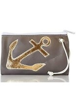 Sea Bag Sea Bag Wristlet Gold on Grey