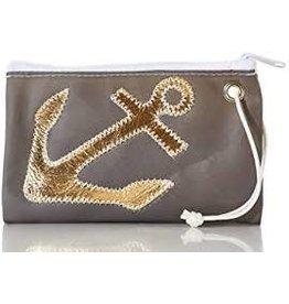 Sea Bag Sea Bag Wristlet Gold on Grey