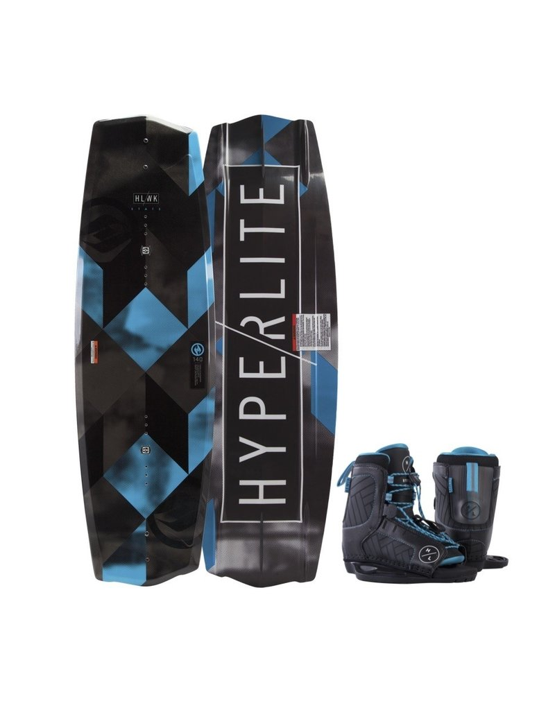 Hyperlite 125 State Jr Wakeboard w/ 4-8 Blue Remix Boot 2019
