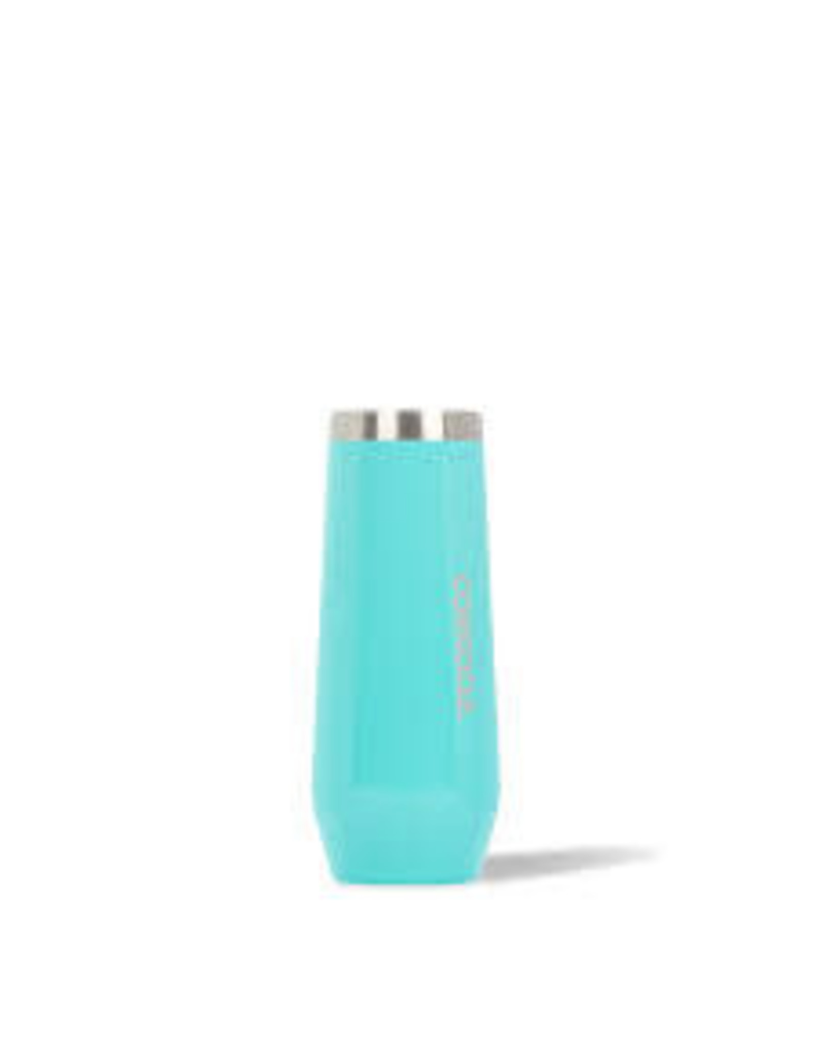 Corkcicle Stemless Flute - 8 oz. Gloss Turquoise