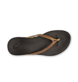 Olukai WOMEN'S HO'OPIO LEATHER - Sahara/Dk Java
