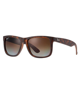 Ray-Ban Justin Havana Rubber/Polar Brown Gradient