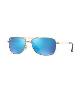 Ray Ban 0RB3543 matte gold blue polar flash