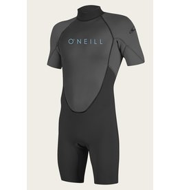 O'Neill YOUTH REACTOR-2 2MM BACK ZIP S/S SPRING BLK/GRAPH