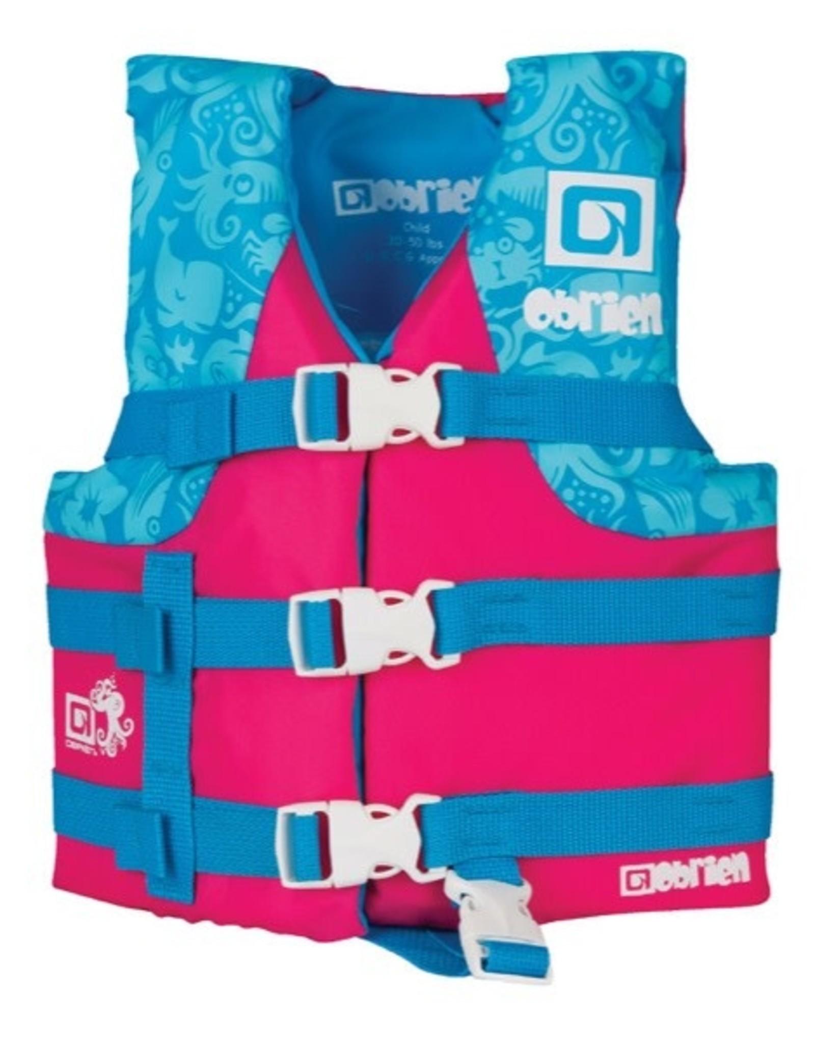 O'Brien Girls Child Nylon, Pink-(30-50 lbs)