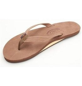 Rainbow Sandals Womens Premier Leather Single Layer Dark Brown