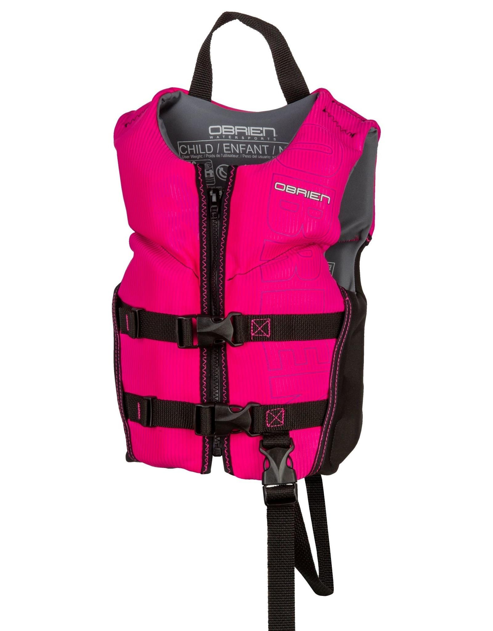 O'Brien Child Flex V-Back Blk/Pink (33-55 lbs)