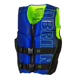 O'Brien Youth Large V-Back, Blue/Lime-(64-88 lbs)