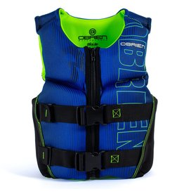 O'Brien Youth Small V-Back, Blue/Lime-(50-75 lbs)