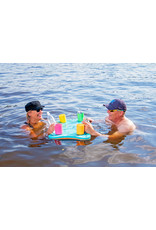 Aqua Lily Dog Bone Floating Cooler Table