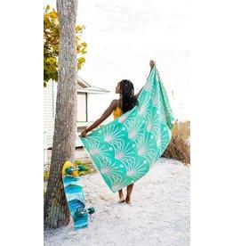 Sand Cloud Green Retro Palm Towel - Regular