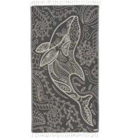 Sand Cloud Floral Dolphin Towel Olive Regular