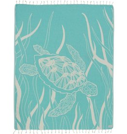 Sand Cloud Mint Turtle Seagrass Towel- Large