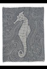 Mutual Sales Seahorse Swirl Towel - Large