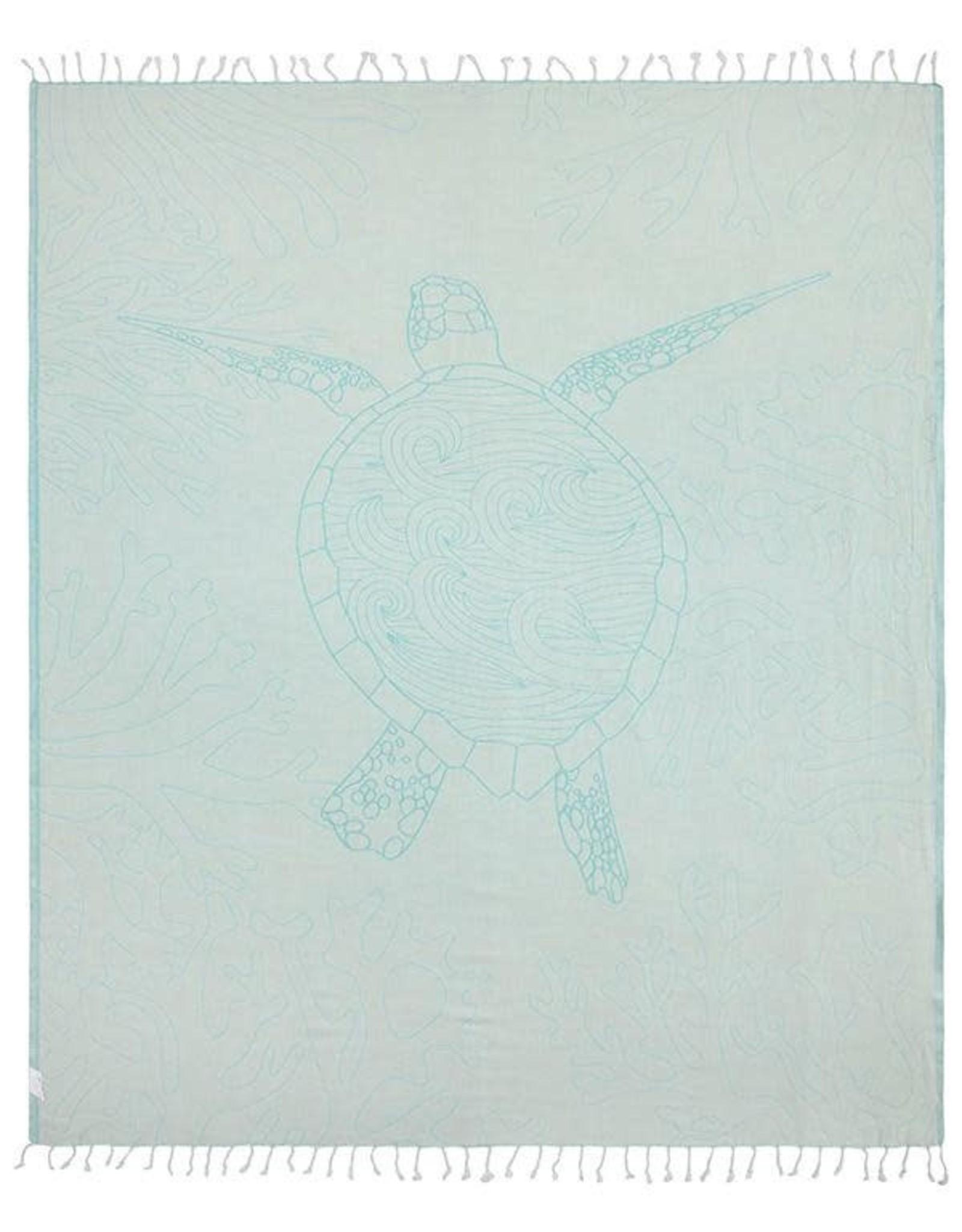 Sand Cloud Sea Turtle Reef Towel - Large