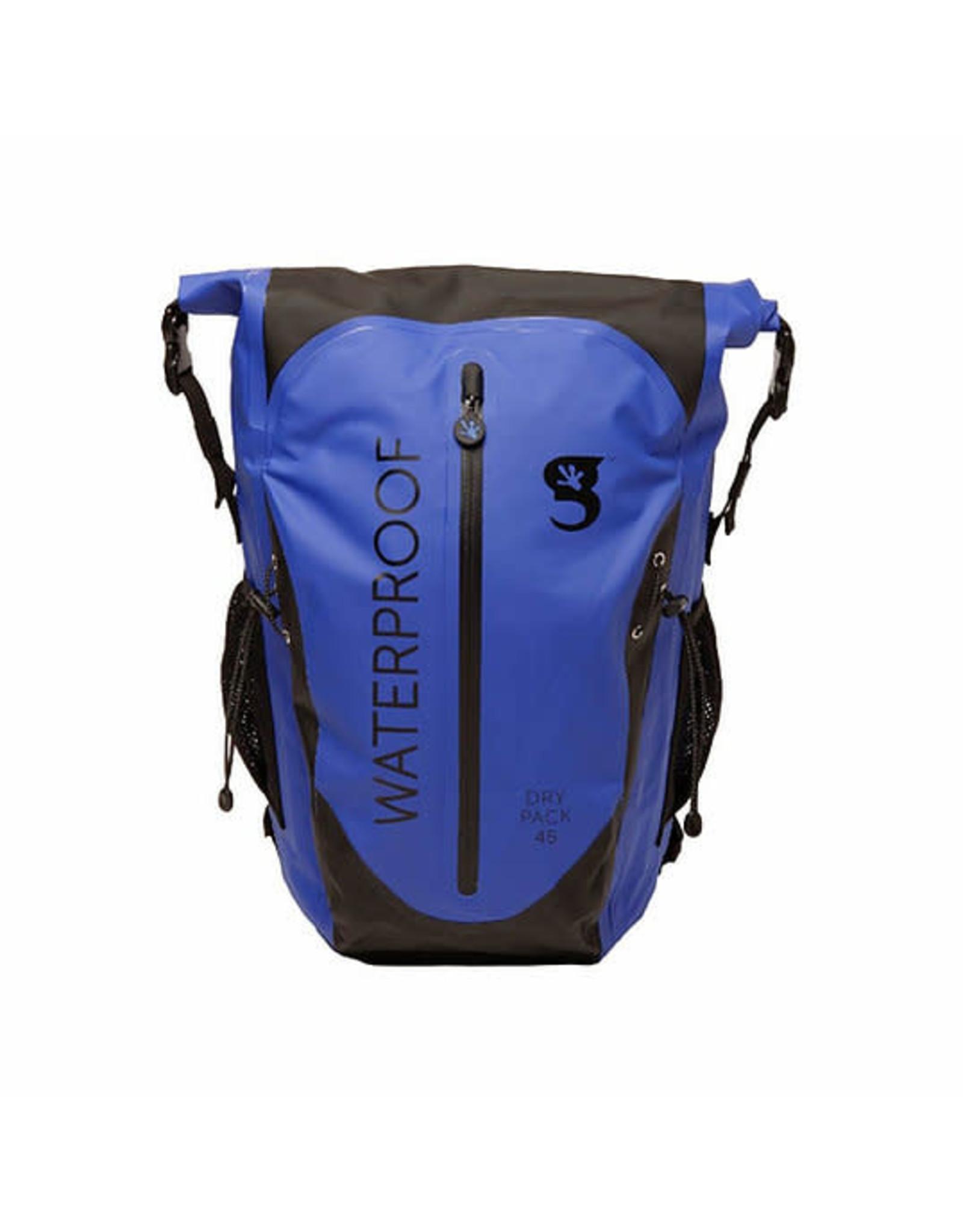 Geckobrands Paddler 45L Waterproof Backpack - Royal/Black