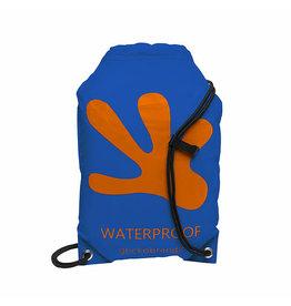 Geckobrands Drawstring WP Backpack - Royal Blue/Orange