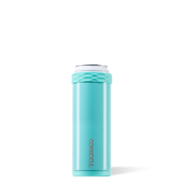 Corkcicle Slim Arctican Gloss Turquoise