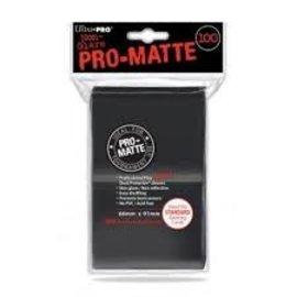 Protege-cartes 100 66X91 - Noir mat