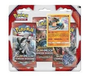 Pokemon SM4 Crimson invasion 3 pk blister (Anglais)