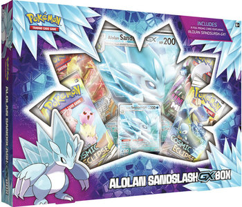 Pokemon Alolan Sandslash GX box (Anglais)