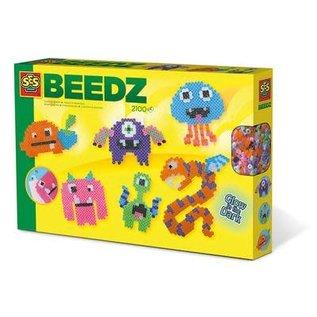 SES Beedz - Iron on beads Glow in the dark monsters