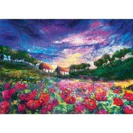 Heye PZ1000 Sundown Poppies, Felted Art