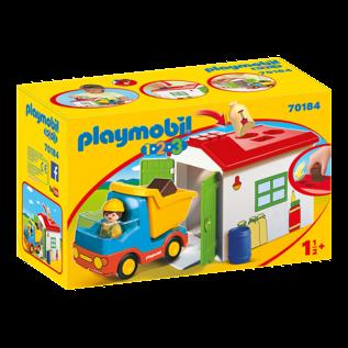 Playmobil Ouvrier avec camion & garage 70184