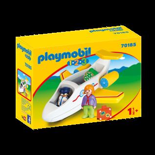 Playmobil Avion avec pilote & vacancière 70185