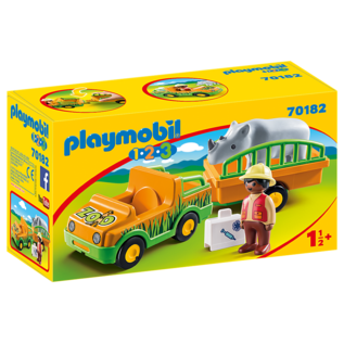 Playmobil Veterinaire avec vehicule & Rhino 70182