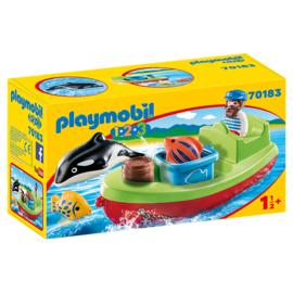 Playmobil 70183 - Bateau et pêcheur 1.2.3