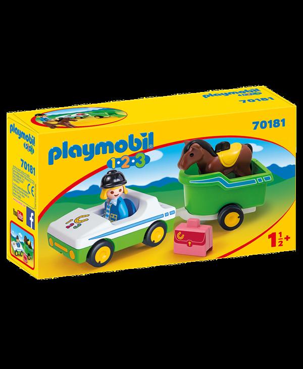 Cavaliere avec voiture & remorque 70181