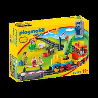 Playmobil Train avec passagers & circuit 70179