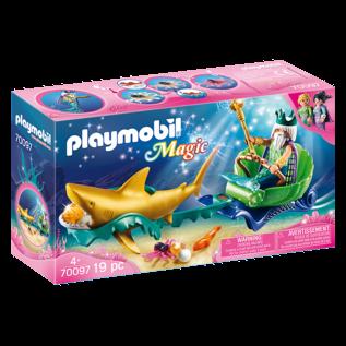 Playmobil Roi des mers avec caleche royale 70097