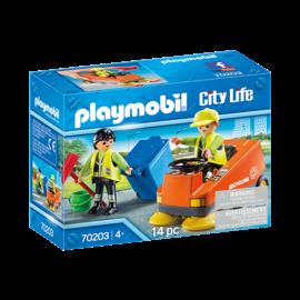 Playmobil 70203 - Agent d'entretien de la voirie