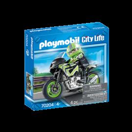 Playmobil Moto & Pilote 70204